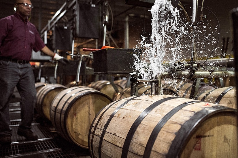 Barton's 1792 Bourbon Barrel Filling Process